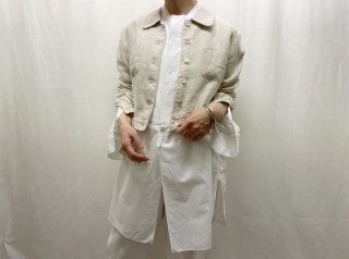 80s- Oatmeal Linen Cropped Jacket