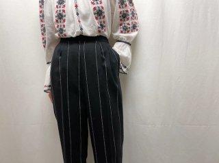 90s Black Stripe Pants
