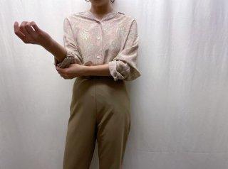 80s- Pink Paisley Silk Shirt