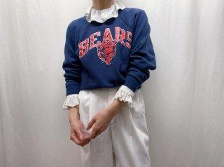 80s- Navy Print Sweatshirt
