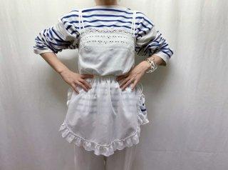 80s- White Eyelet Cotton Camisole Top