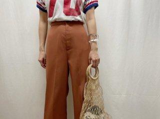 70s Terracotta Wide Leg Baggy Pants