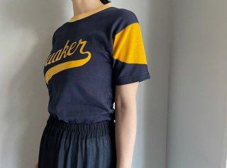60s Navy Yellow Football Rayon Tee