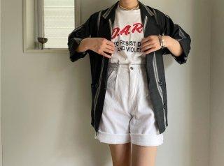 80s- White Denim Shorts