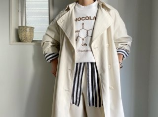 90s- Oyster White Trench Coat