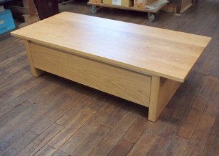 天板割れ補修:木庵ドロワーテーブル