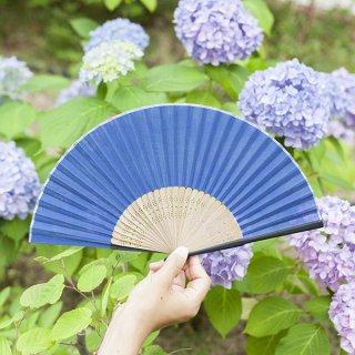 660 日本の伝統色 紺青(こんじょう)<扇子>