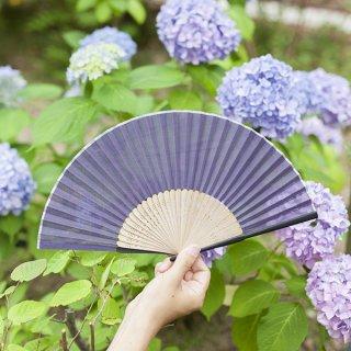 661 日本の伝統色 紫紺(しこん)<扇子>