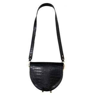 GAIA VERDI  (ガイアヴェルディ) / HALF MOON BAG / ブラック / レザーバッグ / カバン / イタリア / レディースファッション / 雑貨 / グッズ