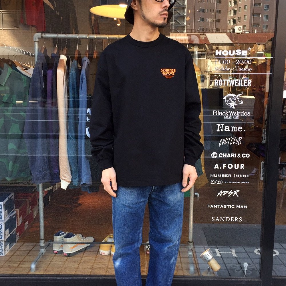 <img class='new_mark_img1' src='https://img.shop-pro.jp/img/new/icons3.gif' style='border:none;display:inline;margin:0px;padding:0px;width:auto;' />Name.  ネーム / ロングTシャツ PRINT LONG SLEEVE TEE 【BLACK】