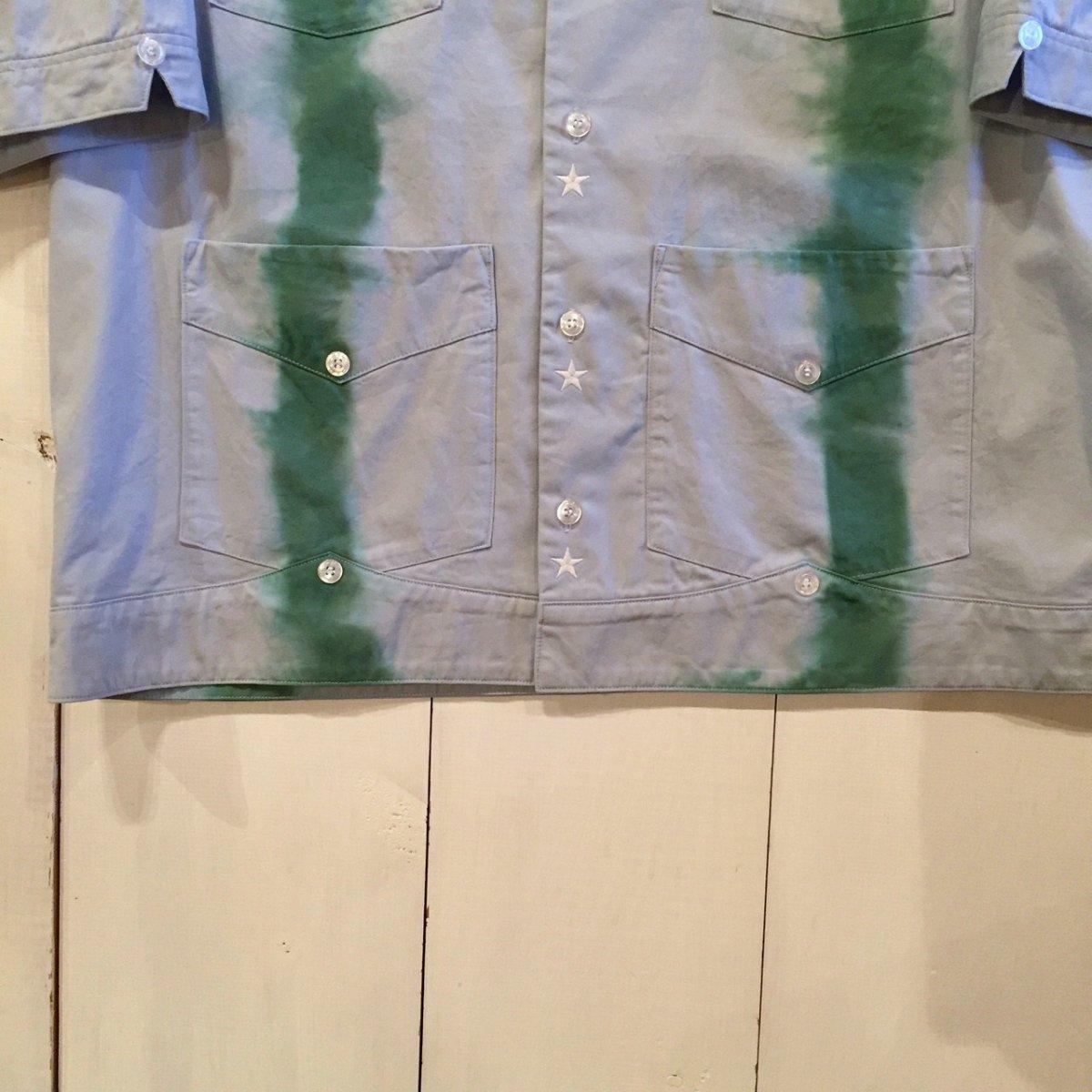 <img class='new_mark_img1' src='https://img.shop-pro.jp/img/new/icons24.gif' style='border:none;display:inline;margin:0px;padding:0px;width:auto;' />【SALE / 30%OFF】Black weirdos  ブラック ウィドー / 半袖シャツ TieDye Cuba Shirt 【SKY】