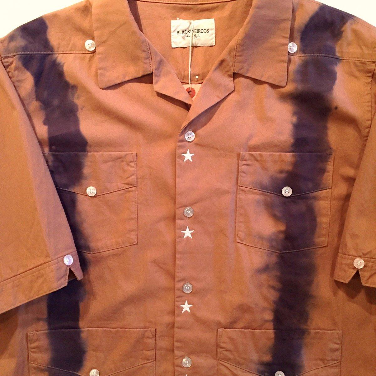 <img class='new_mark_img1' src='https://img.shop-pro.jp/img/new/icons3.gif' style='border:none;display:inline;margin:0px;padding:0px;width:auto;' />Black weirdos  ブラック ウィドー / 半袖シャツ TieDye Cuba Shirt 【BROWN】