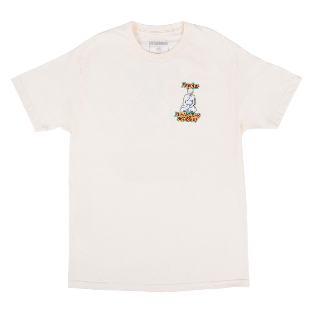 <img class='new_mark_img1' src='https://img.shop-pro.jp/img/new/icons3.gif' style='border:none;display:inline;margin:0px;padding:0px;width:auto;' />PLEASURES プレジャーズ / Tシャツ PSYCHO T-SHIRT 【CREAM】