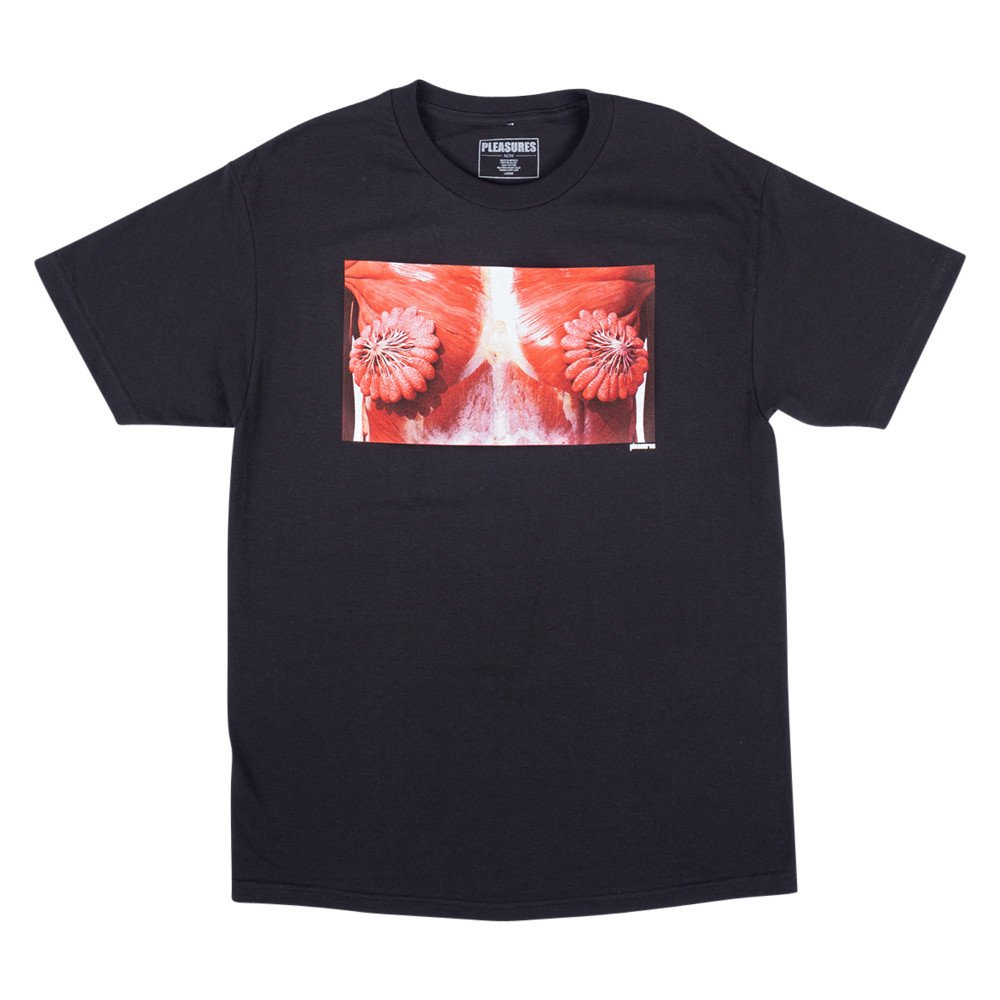 <img class='new_mark_img1' src='https://img.shop-pro.jp/img/new/icons3.gif' style='border:none;display:inline;margin:0px;padding:0px;width:auto;' />PLEASURES プレジャーズ / Tシャツ MAMMARY T-SHIRTS 【BLACK】