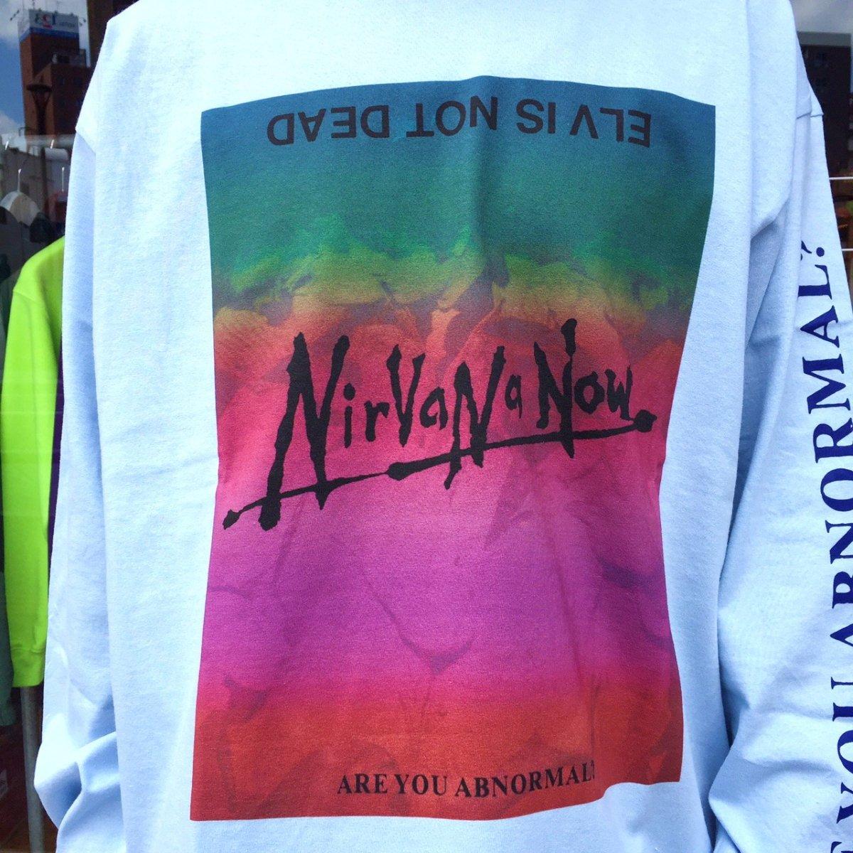 <img class='new_mark_img1' src='https://img.shop-pro.jp/img/new/icons3.gif' style='border:none;display:inline;margin:0px;padding:0px;width:auto;' />Black Weirdos  ブラック ウィドー / ロングTシャツ Nirvana ELVS L/S Tee 【WHITE】