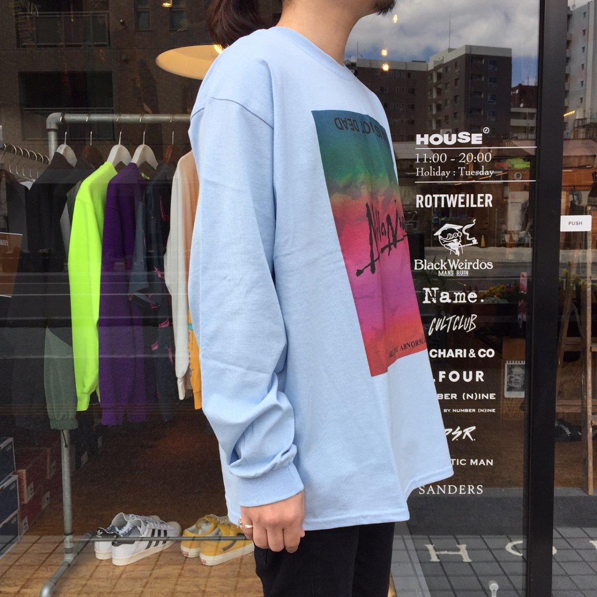 <img class='new_mark_img1' src='https://img.shop-pro.jp/img/new/icons3.gif' style='border:none;display:inline;margin:0px;padding:0px;width:auto;' />Black Weirdos  ブラック ウィドー / ロングTシャツ Nirvana ELVS L/S Tee 【SKY】