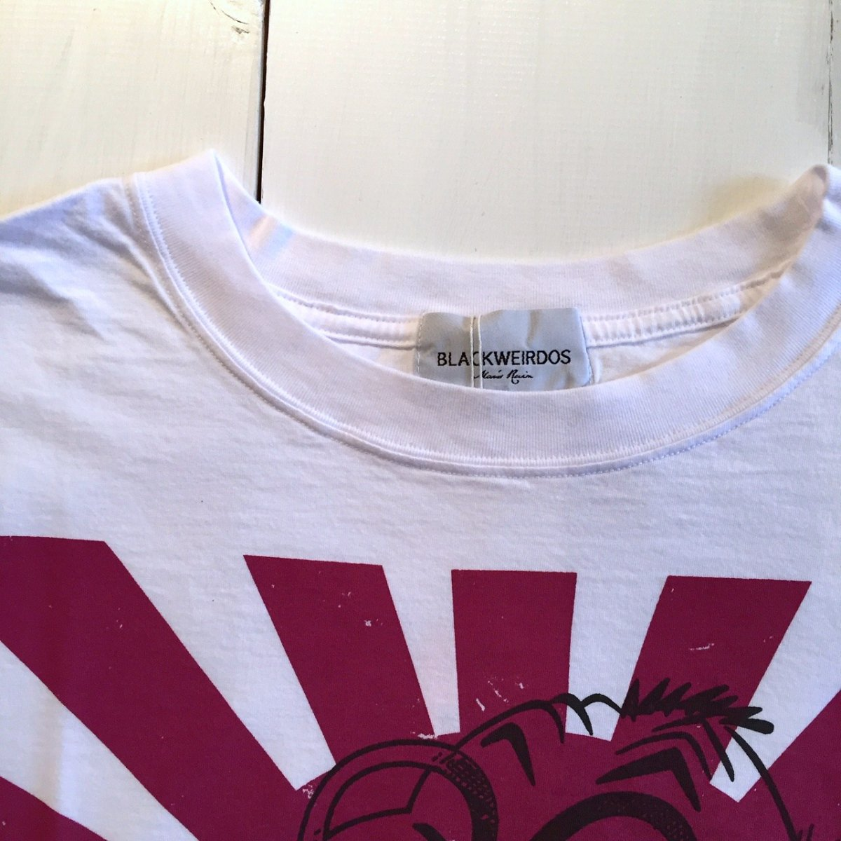 <img class='new_mark_img1' src='https://img.shop-pro.jp/img/new/icons3.gif' style='border:none;display:inline;margin:0px;padding:0px;width:auto;' />Black Weirdos  ブラック ウィドー / Tシャツ TEKNO JAP Tee 【WHITE】