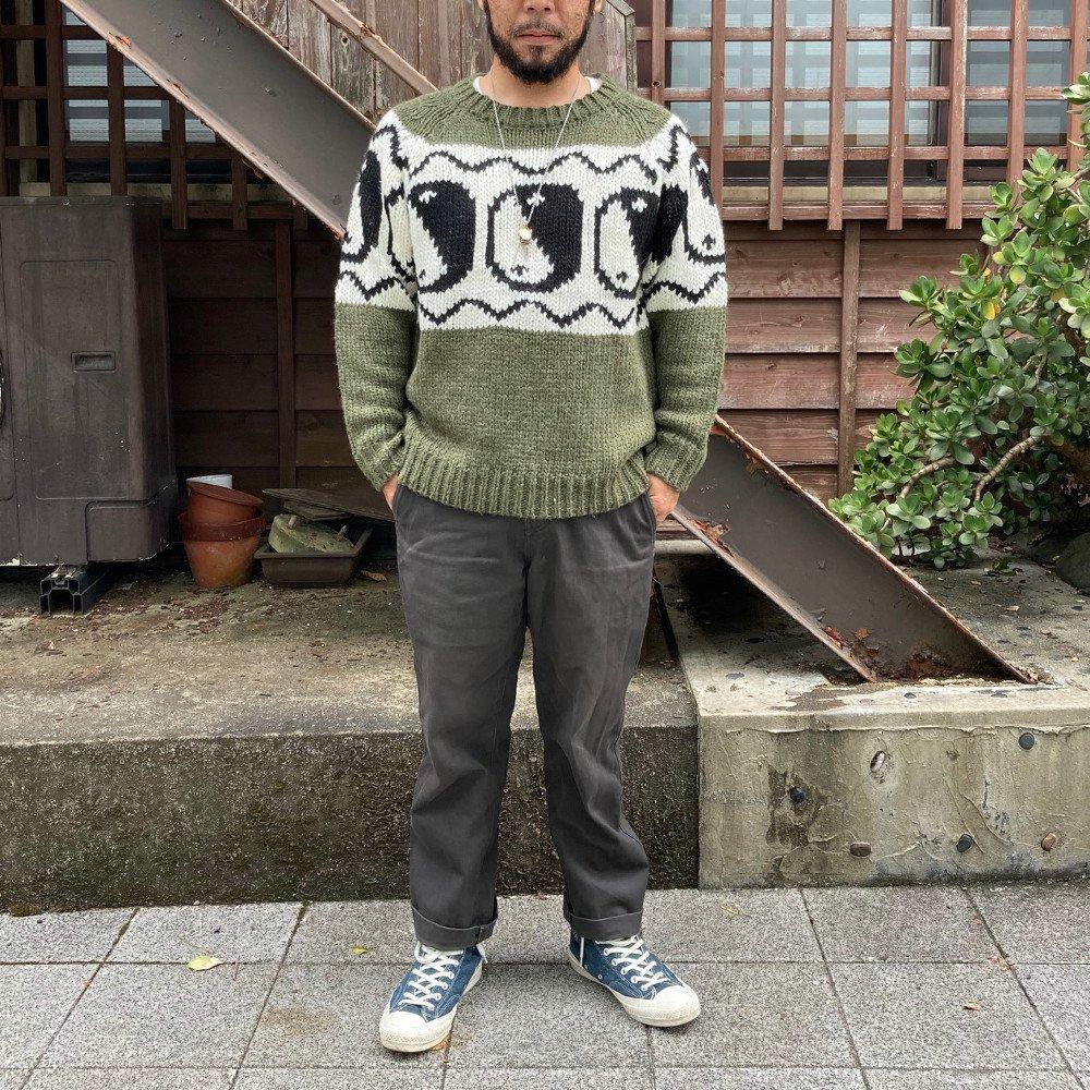 <img class='new_mark_img1' src='https://img.shop-pro.jp/img/new/icons3.gif' style='border:none;display:inline;margin:0px;padding:0px;width:auto;' />Black weirdos  ブラック ウィドー / ニット Yin-Yang Sweater 【GREEN】
