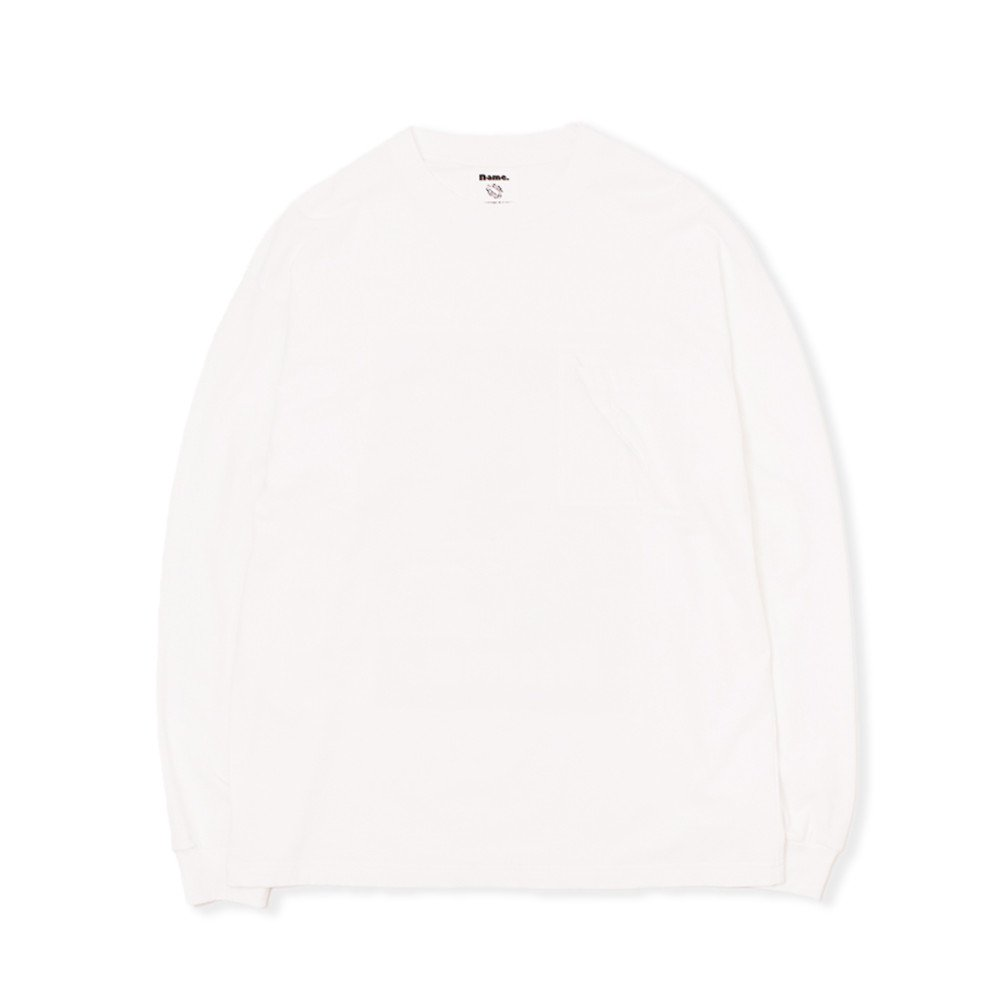 <img class='new_mark_img1' src='https://img.shop-pro.jp/img/new/icons3.gif' style='border:none;display:inline;margin:0px;padding:0px;width:auto;' />Name.  ネーム / ロングTシャツ F-LAGSTUF-F x Name. LONG SLEEVE TEE 【WHITE】