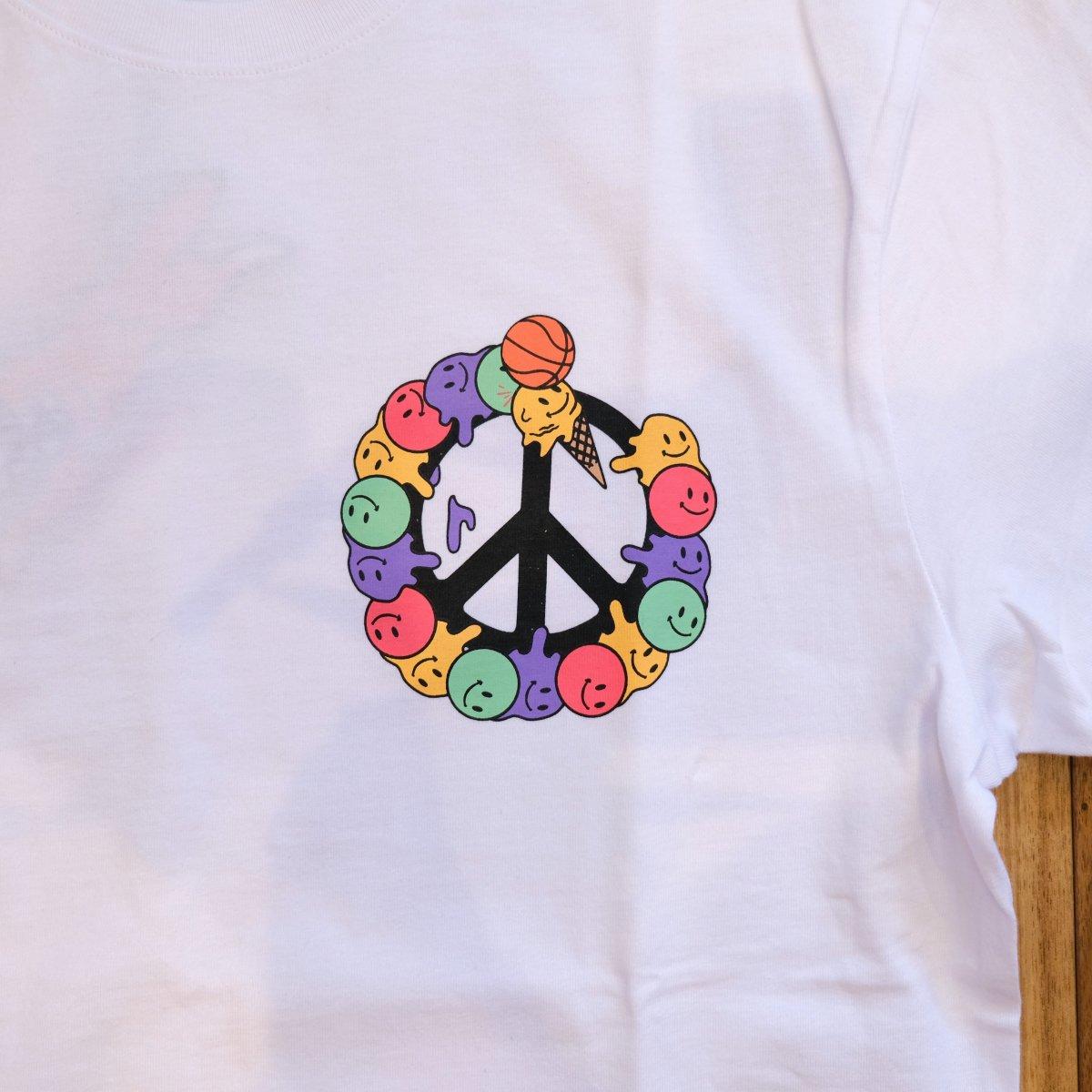 <img class='new_mark_img1' src='https://img.shop-pro.jp/img/new/icons3.gif' style='border:none;display:inline;margin:0px;padding:0px;width:auto;' />ICE CREAM アイスクリーム / Tシャツ PEACE T-SHIRT 【WHITE】