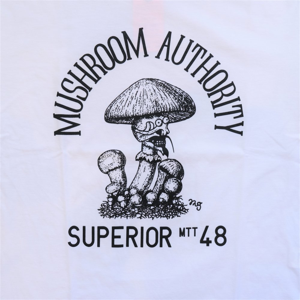 <img class='new_mark_img1' src='https://img.shop-pro.jp/img/new/icons3.gif' style='border:none;display:inline;margin:0px;padding:0px;width:auto;' />Black Weirdos  ブラック ウィドー / Tシャツ Mushroom Tee 【WHITE】