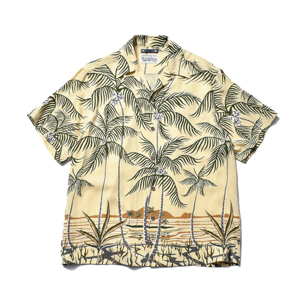 <img class='new_mark_img1' src='https://img.shop-pro.jp/img/new/icons3.gif' style='border:none;display:inline;margin:0px;padding:0px;width:auto;' />MINEDENIM  マインデニム /  シャツ / × WACKOMARIA Palm tree Hawaiian  【YPT】