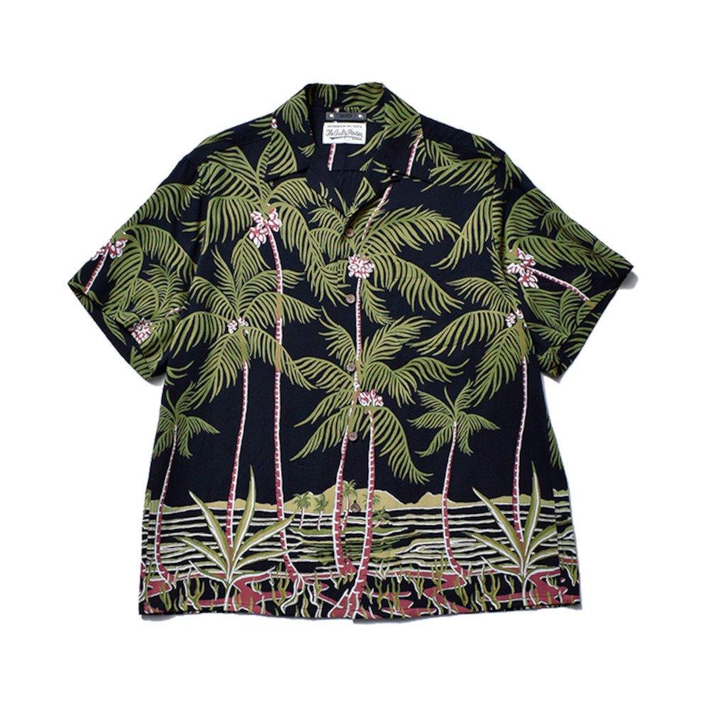 <img class='new_mark_img1' src='https://img.shop-pro.jp/img/new/icons3.gif' style='border:none;display:inline;margin:0px;padding:0px;width:auto;' />MINEDENIM  マインデニム /  シャツ / × WACKOMARIA Palm tree Hawaiian  【BLT】
