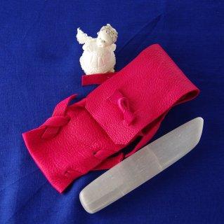 SW0033 セレナイト ピンク革ケース