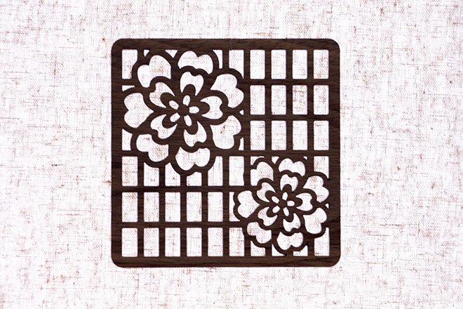 コースター障子と花(SYOUJITOHANA)