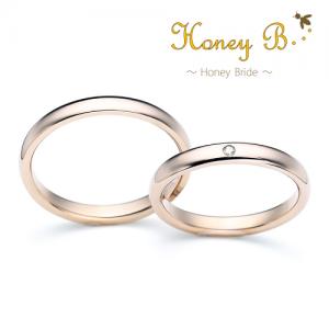 ハニーブライド 結婚指輪(2本セット)マロン RF