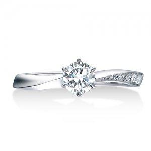 ロイヤルアッシャー 婚約指輪 ERA812 0.18 RF
