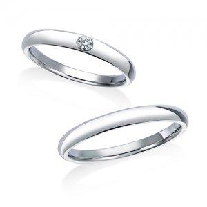 ロイヤルアッシャー 結婚指輪(2本セット)WRB036、WRA026 RF