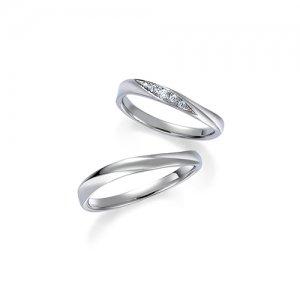 ロイヤルアッシャー 結婚指輪(2本セット)WRB037、WRA027 RF