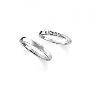 ロイヤルアッシャー 結婚指輪(2本セット)WRB039、WRA029 RF