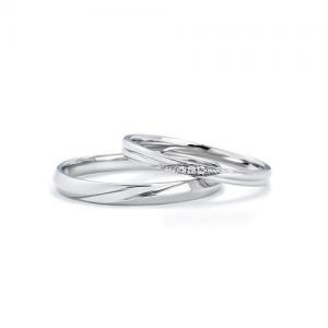 いい夫婦ブライダル 結婚指輪(2本セット)IFM107W、IFM007G RF