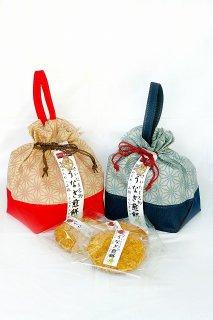 うなぎ煎餅 6枚巾着ギフト(2色2個セット)