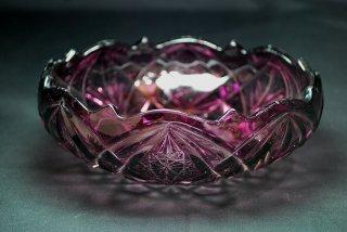 昭和初期頃のプレスガラス 中鉢 珍しい紫色