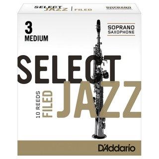 D'Addario ダダリオ SELECTJAZZ(セレクトジャズ) ファイルド・カット ソプラノサックス 10枚入り