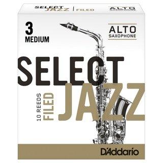D'Addario ダダリオ SELECTJAZZ(セレクトジャズ) ファイルド・カット アルトサックス 10枚入り