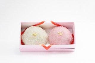 【受注製造】なないろ紅白 薯蕷(じょうよ)饅頭 慶事菓子 (大)