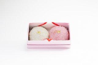 【受注製造】なないろ紅白 薯蕷(じょうよ)饅頭 慶事菓子 (小)