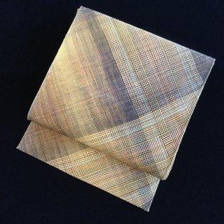 円窓O210*線と線、個性的な名古屋帯(未使用品)/リユース