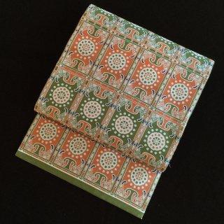 円窓O228*オリエンタルな織柄(未使用品)名古屋帯/リユース