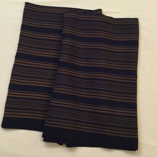円窓C109*シンプルな変わり縞・縮緬/やゝオリジナル帯揚げ&半衿セット