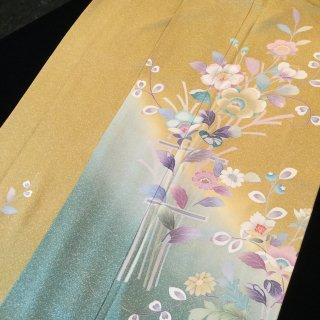 円窓K253*天界に咲く花のよう...訪問着/リユース