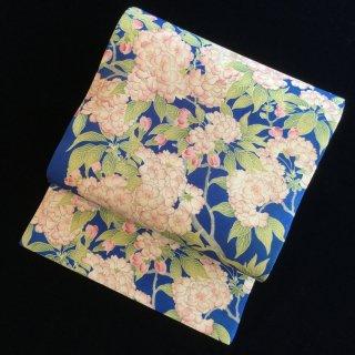 円窓O257*青空に満開の桜/アンティーク名古屋帯