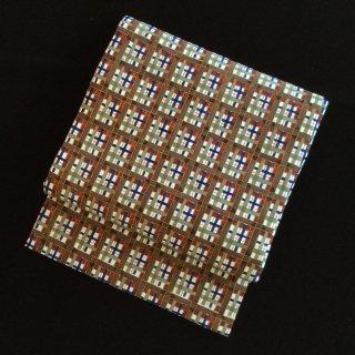 円窓O266*リボンを組んだような格子・名古屋帯/リユース