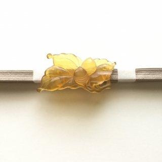 円窓C173*蜜色のドングリ・べっ甲/アンティーク帯留め