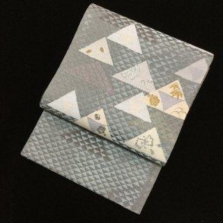 円窓O312*お山のよう♪可愛らしい鱗紋(未使用品)袋帯/リユース