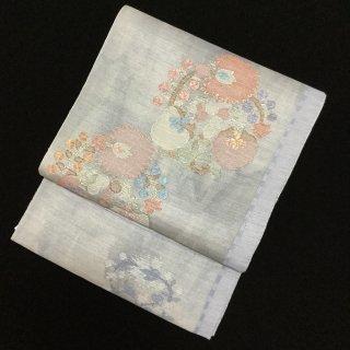 円窓O315*独創的な花丸紋と滲み・袋帯/リユース